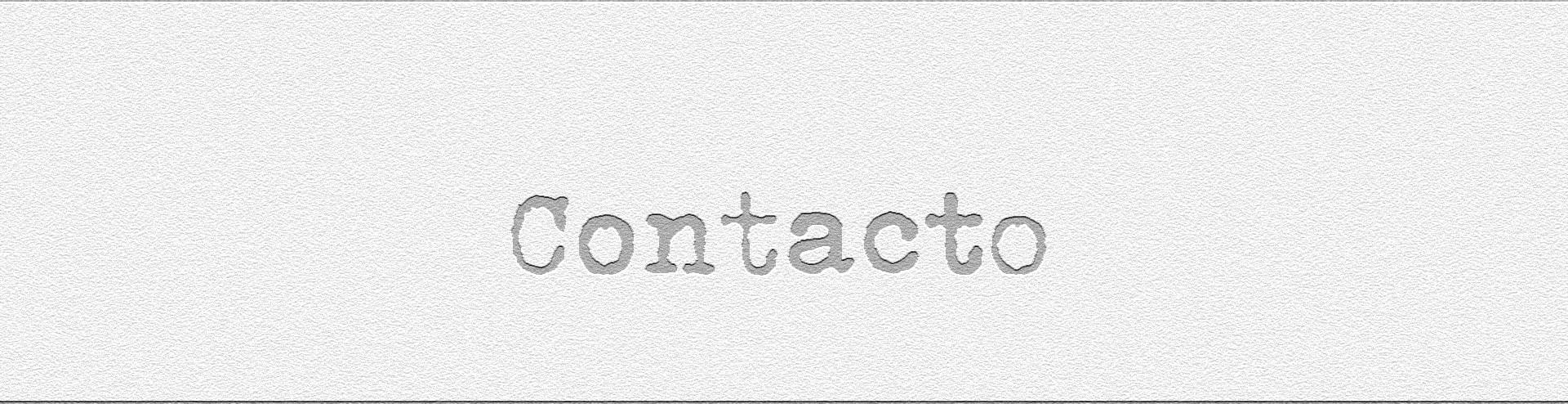 el letrero de contacto