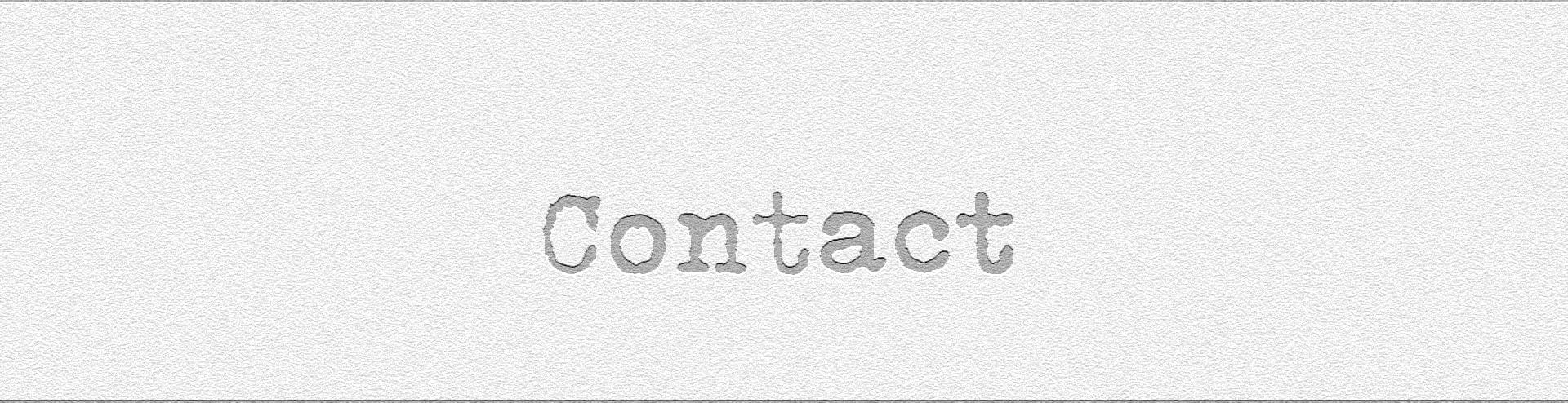 Cartel de contacto en ingles