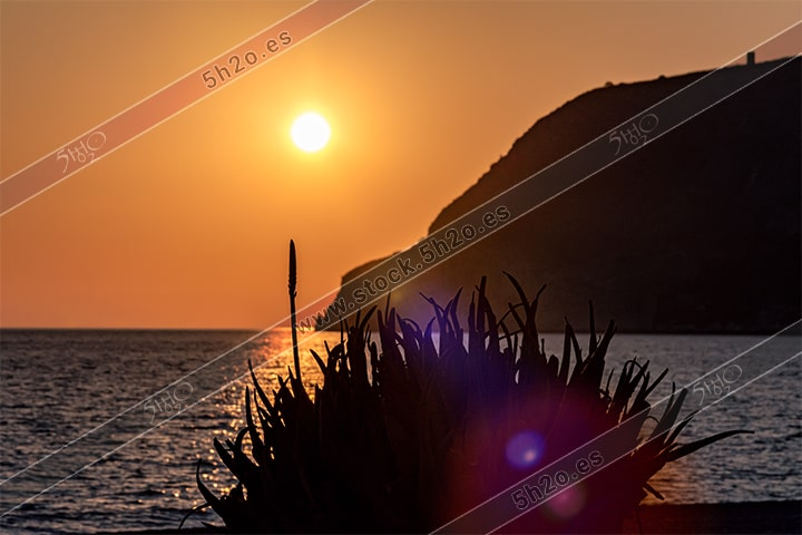 Foto de stock - Photo Stock - Atardecer sobre Cerro Gordo
