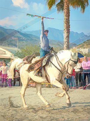Joven jinete en las carreras de cintas de La Herraura