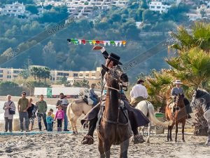 Foto de stock - Photo stock by 5h2o - jinete andaluz al galope