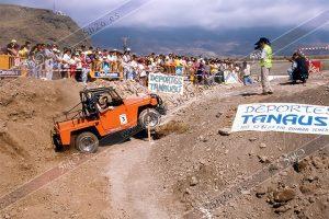 Foto de stock de 5h2o del tercer trial 4x4 Ciudad de Güimar en Tenerife de 1995