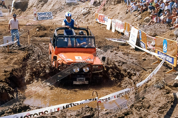 Foto de stock de 5h2o Bañera de barro. III Trial 4x4 Ciudad de Güimar - 1995