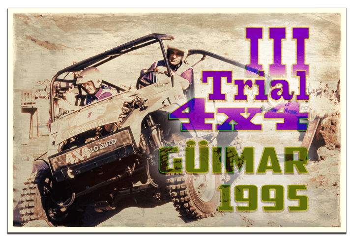 Cartel III Trial Ciudad de Güimar de 1995 - Fotografía de Stock de 5h2o - Polzakc