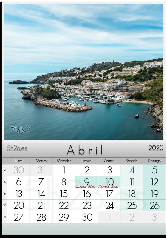 Abril 2020 Calendario - Photo Stock - Foto de stock