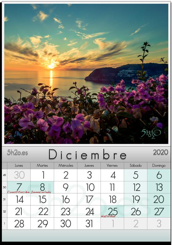 Foto de stock - Foto Stock by 5h2o - Calendario 2020 - Diciembre - Atardecer sobre el mar